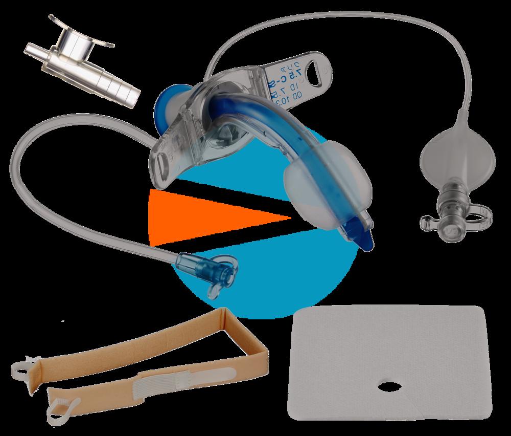 Трахеалкит® | трахеостомическая трубка Sofit CLEAR С-S с манжетой