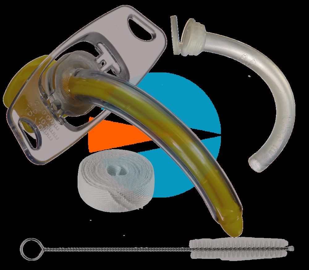 Трахеалкит® | трахеостомическая трубка без манжеты, с тесьмой