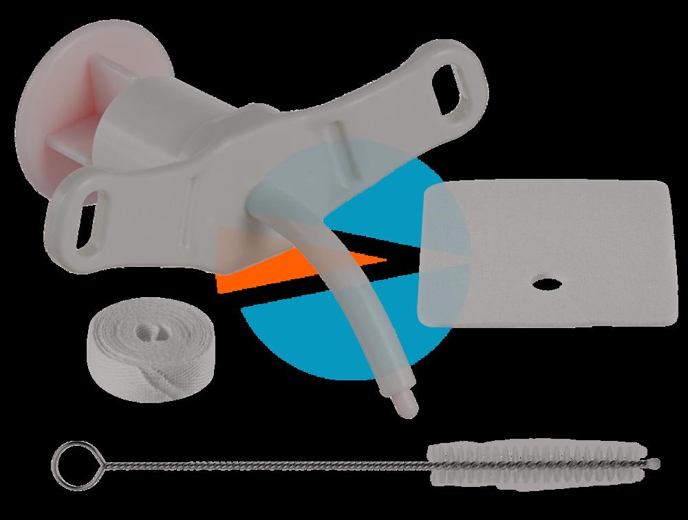 Педиатрический Трахеалкит® |трахеостомическая трубка Love Р без манжеты, с тесьмой