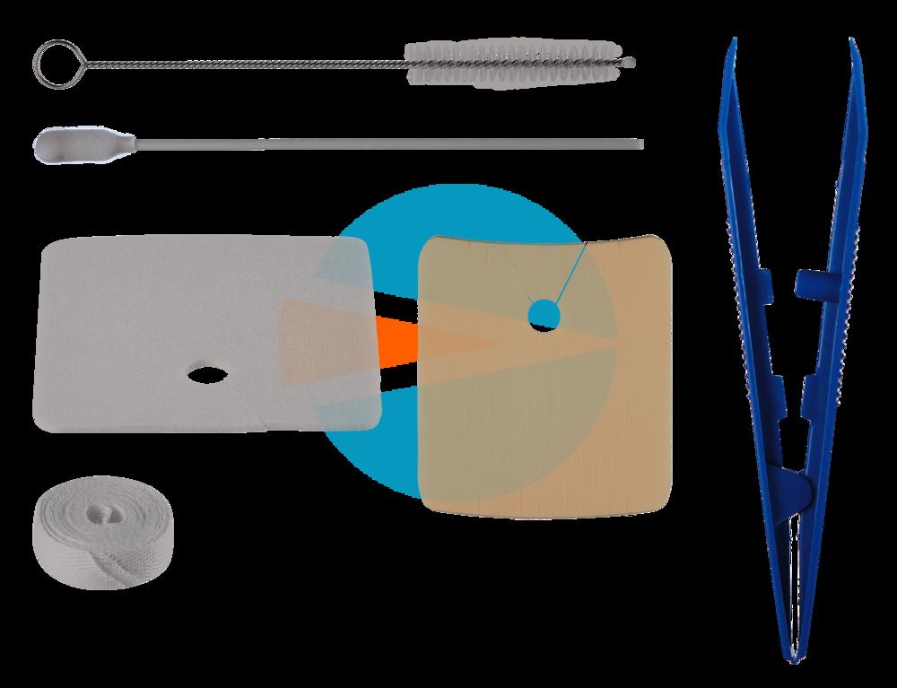 Педиатрический Трахеалкит® | для проведения гигиенических процедур для трахеостомической трубки