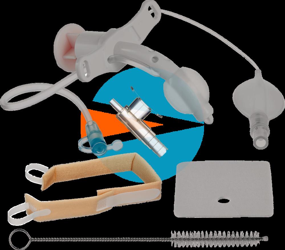 Педиатрический Трахеалкит® | трахеостомическая фенестрированная трубка Love PCF-S с манжетой и каналом для санации